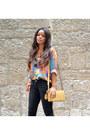 Zara-shoes-sky-blue-vintage-shirt-tawny-volum-bag-black-mango-pants
