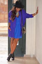 purple NORTON MCNAUGTON blazer - blue Bershka dress