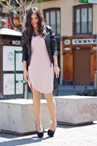 black Zara jacket - light pink Doble A dress
