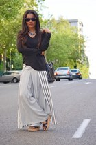 black Massimo Dutti sweater - white victorio&Lucchino pants