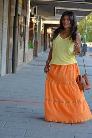 yellow H&M blouse