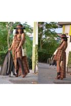 Vicosta bag - DIY dress - H&M hat - Mango blazer