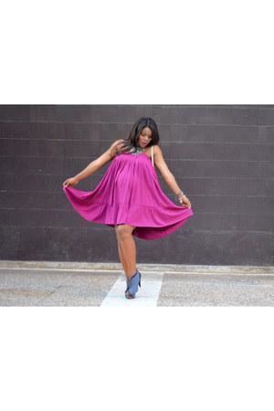 magenta DIY dress