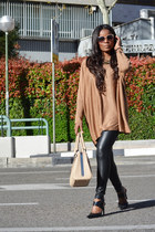 mustard el corte ingles blouse - black Zara leggings