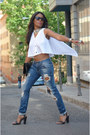 Sky-blue-zara-jeans-white-laura-montero-blouse-black-blanco-sandals