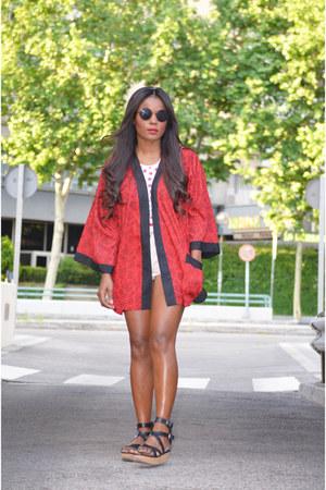 red el corte ingles jacket - black Mango bag