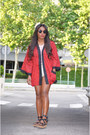 Red-el-corte-ingles-jacket-black-mango-bag