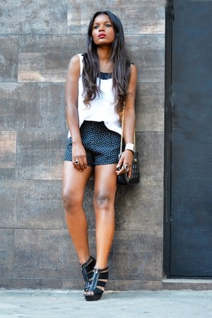 black Zara shorts