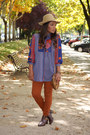 Blue-vintage-blouse