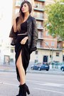 Black-zara-dress-black-zara-jacket