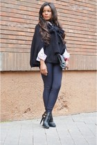 white Carolina Herrera shirt - red Zara boots - black Mango pants