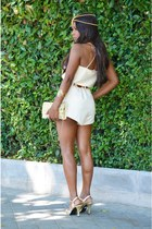 gold vintage customize shorts - light yellow Adela Gil shoes