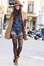 Brown-zara-boots-nude-stradivarius-coat-bronze-klin-hat