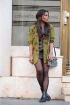 olive green vintage blazer - heather gray Fun&Basic bag