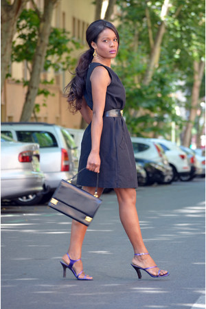 violet irenelaya sandals - black Zara dress - vintage bag