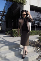 brown leather Silvia Y Mario jacket - dark brown Amalfi shoes