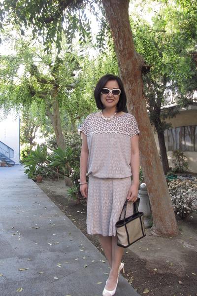 Maxx New York bag - white frame CK Calvin Klein sunglasses - vintage necklace