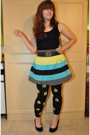 Boscovs skirt - Macys leggings - kohls top - Target wedges - Target belt