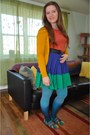 Mustard-h-m-cardigan-orange-target-top-blue-modcloth-skirt