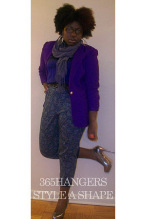 deep purple judges pick 365HANGERS STYLE A SHAPE blazer