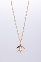 COURAGE- symbol necklace gold plated silver pendant on 40cm long chain