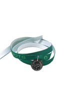 Capricorn horoscope sign emerald green wristband