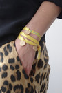 Yellow-3-wind-knots-bracelet