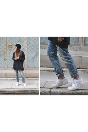sweater - sunglasses - sneakers