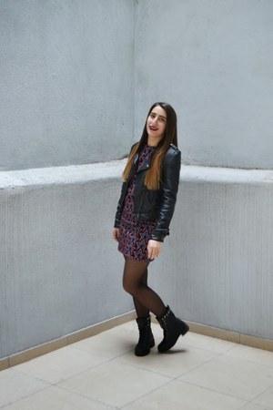 jacket - boots - dress
