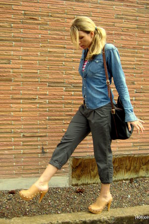 Steve Madden clogs - Ralph Lauren shirt - Old Navy pants - Capezio bag