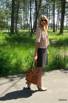 Rebecca Taylor jacket - Max Studio dress - Steve Madden shoes - lucky purse - vi