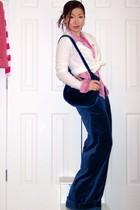 blue blue velvet vintage pants - bubble gum embellishedxox Bebe shirt