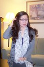 Heather-gray-favorite-fit-alloycom-cardigan-silver-new-scarf-accessories
