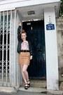 Gold-h-m-skirt-skirt-ivory-animal-body-bodysuit-black-topshop-belt