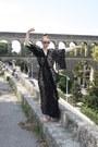 Lace-kimono-topshop-dress-gold-sandal-miss-selfridge-flats