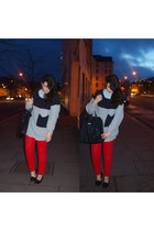 Bershka jumper - Penneys shirt - Stradivarius bag - Zara pants - Newlook flats