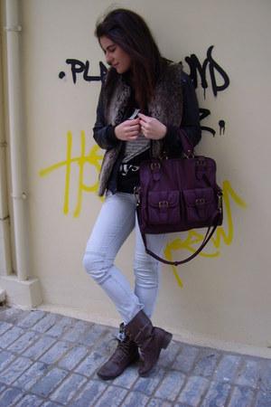 Bershka boots - Bershka jeans - Zara bag - Zara t-shirt