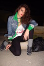 Green-adidas-jacket-black-zara-leggings-white-stradivarius-t-shirt-black-z