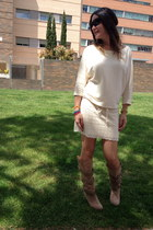 guipur Zara dress - Zara boots - colorful skulls suiteblanco bracelet