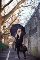 TopShop Unique boots - Zara coat - MMM x H&M blazer - Prada bag