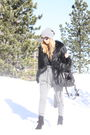 Black-topshop-coat-gray-gina-tricot-pants-black-zara-shoes-black-zara-purs