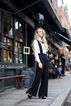 black DinSko shoes - white COS shirt - gray BikBok necklace
