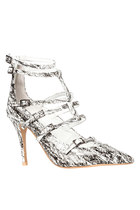 Jeffrey Campbell Isabel in Black/White/Gold Scribble