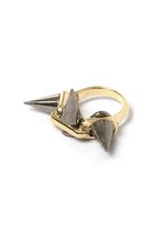 3DIRECTION SPIKE RING - MIXED METAL