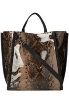 French Connection Snake-Print Tote