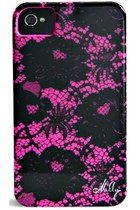 Milly Scallop Lace Print Case for iPhone 4/4s - Shocking Pink