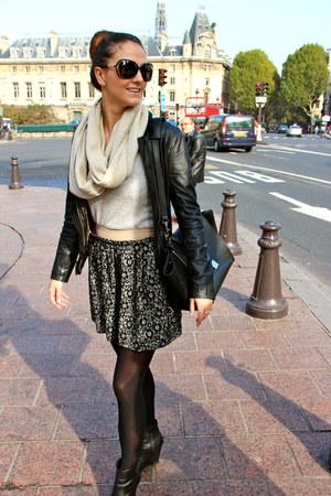 danier jacket - Massimo Baldi boots - cashmere sweater - Celine bag