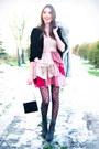 Heather-gray-lace-up-jennika-boots-peach-ruffled-h-m-dress-silver-faux-fur-v