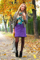 deep purple Ralph Lauren skirt - black Oasis boots