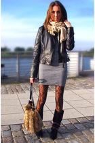 black Orsay jacket - gray SH dress - brown Primark tights - black Primark boots